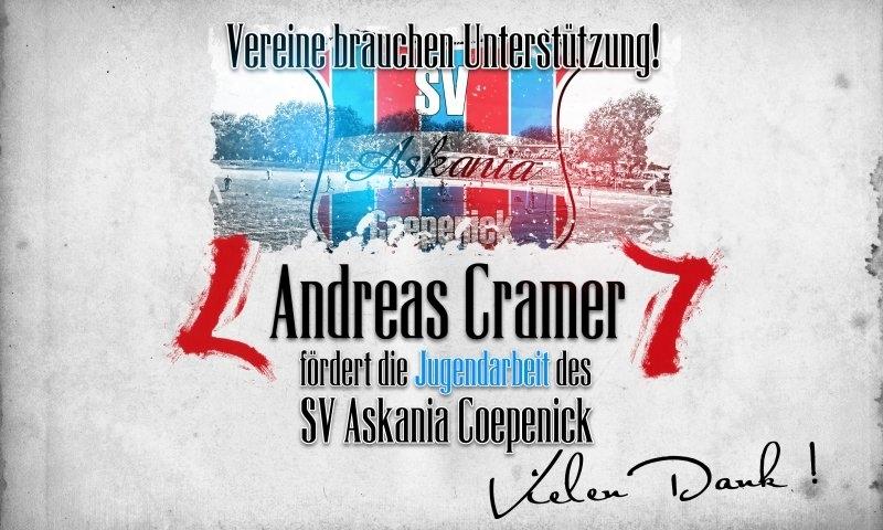 Sponsorenzertifikat – Andreas Cramer – Sommerfest 2014