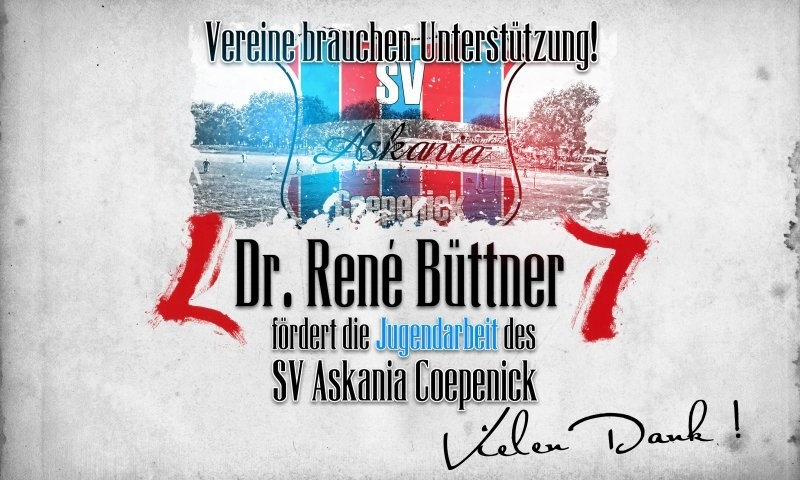 Sponsorenzertifikat – Dr. René Büttner – Verein allgemein 2015