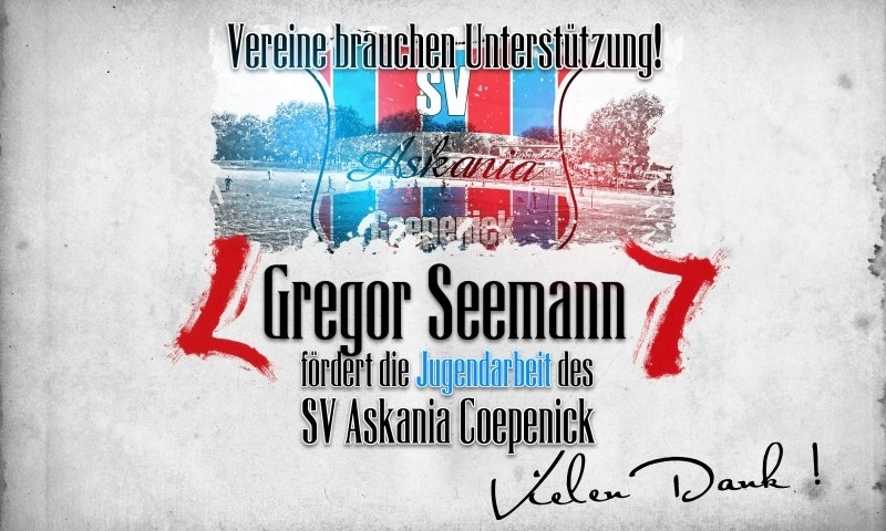 Sponsorenzertifikat - Gregor Seemann - 1.F-Jugend 2016