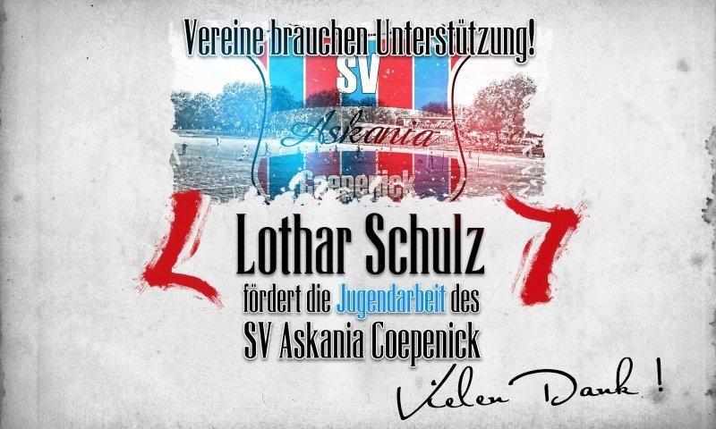 Sponsorenzertifikat – Lothar Schulz – Verein allgemein 2015