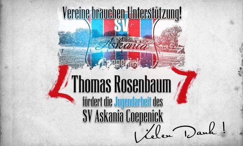 Sponsorenzertifikat - Thomas Rosenbaum - 2.D-Jugend 2015