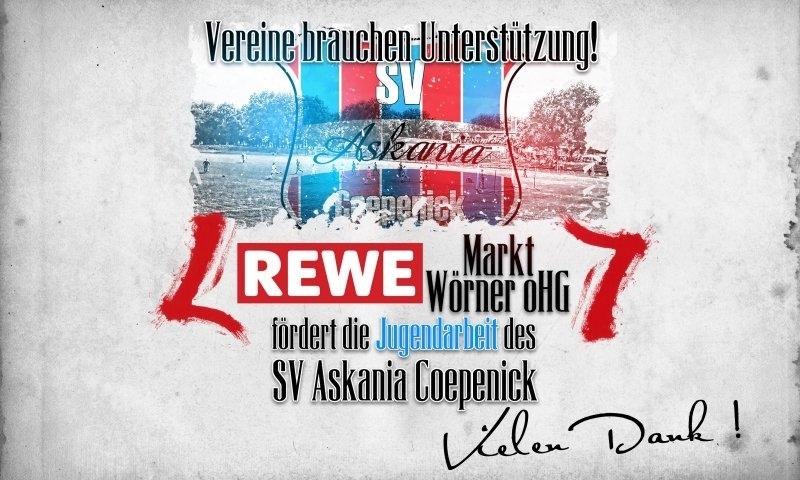Sponsorenzertifikat – Rewe Markt Wörner oHG – 1.E-Jugend 2015