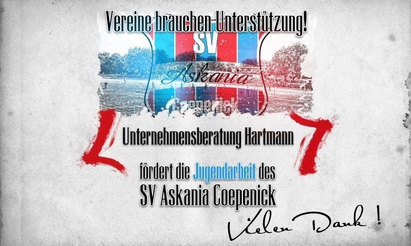 Sponsorenzertifikat – Unternehmensberatung Hartmann – 1.E-Jugend 2015