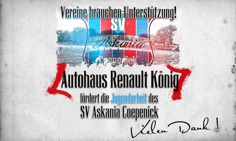 Sponsorenzertifikat – Autohaus Renault König – 1.G-Jugend 2016