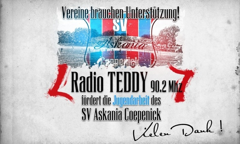 Sponsorenzertifikat – Radion TEDDY 90.2 Mhz – 1.G-Jugend 2016