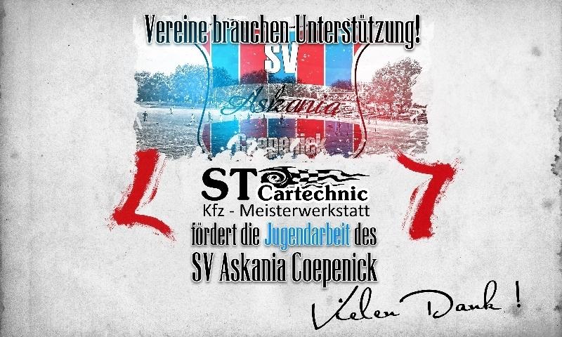 Sponsorenzertifikat – ST Cartechnic - Kfz-Meisterwerkstatt – 2.F-Jugend 2016/2017