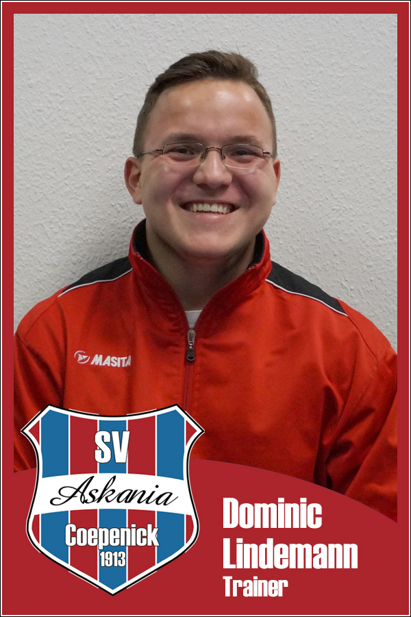 Dominic Lindemann (Trainer 1.G-Junioren 2014/2015)