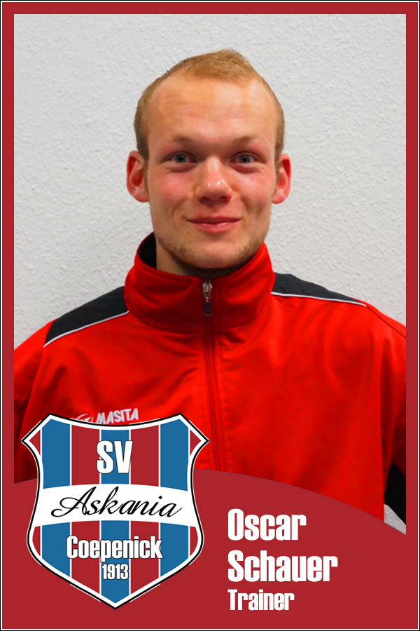 Oscar Schauer (Trainer 2.E-Junioren 2014/2015)