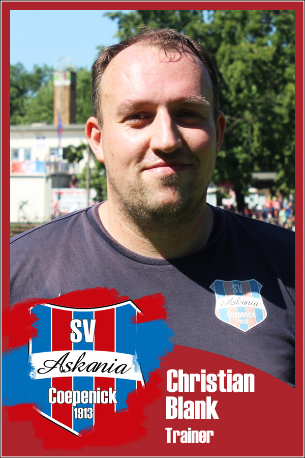 Christian Blank (Trainer 1.F-Junioren 2019/2020)
