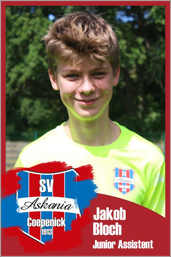 Jakob Bloch (Junior Assistent 2.F-Junioren 2021/2022)