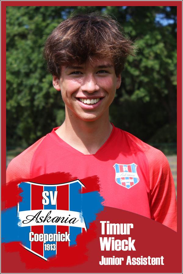 Timur Wieck (Junior Assistent 2.F-Junioren 2021/2022)